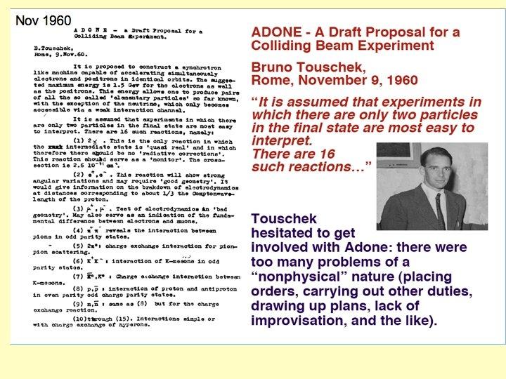 1960 Adone draft proposal