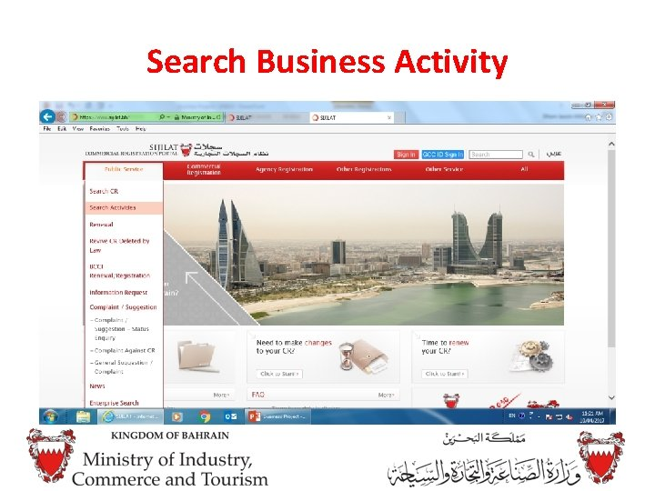 Search Business Activity