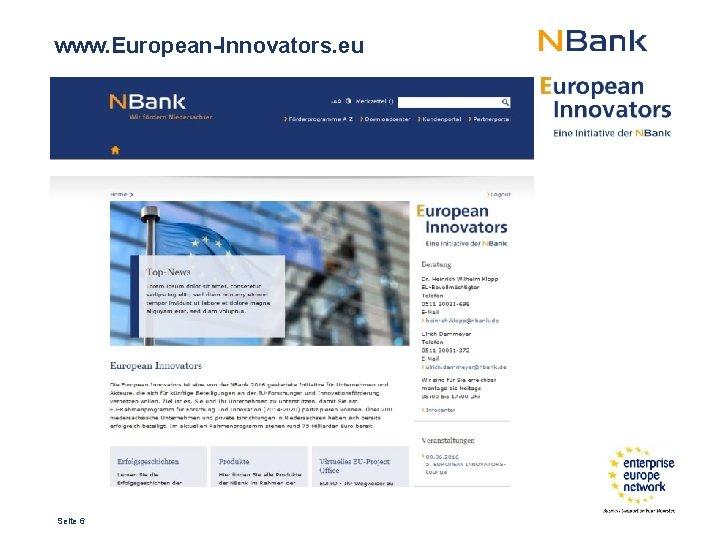 www. European-Innovators. eu Seite 6