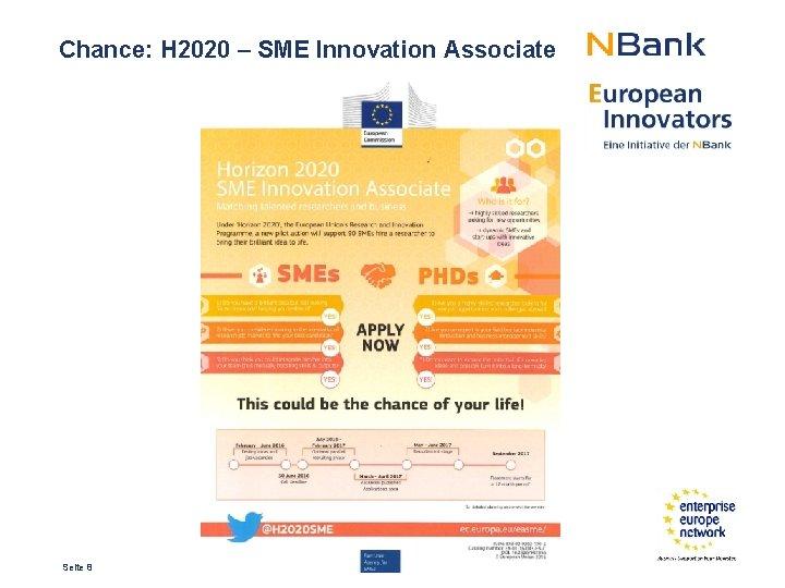 Chance: H 2020 – SME Innovation Associate Seite 8