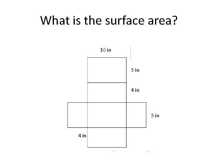 What is the surface area? 10 in 5 in 4 in