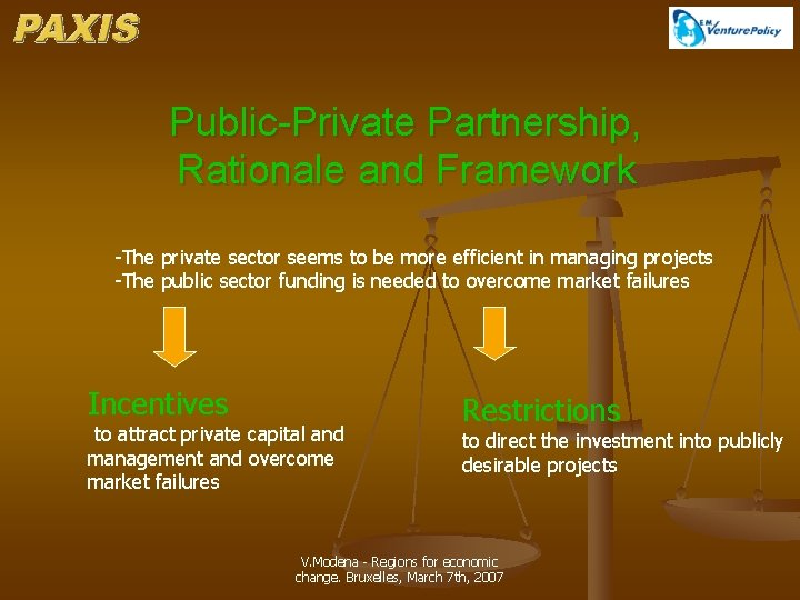 Public-Private Partnership, Rationale and Framework -The private sector seems to be more efficient in