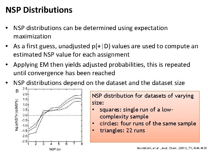 NSP Distributions • NSP distributions can be determined using expectation maximization • As a