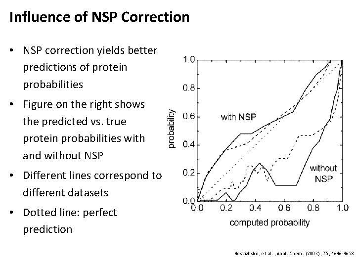 Influence of NSP Correction • NSP correction yields better predictions of protein probabilities •