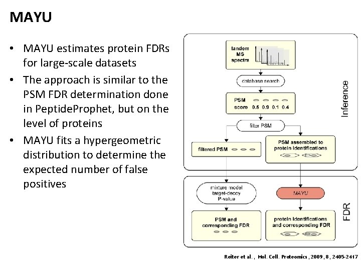 MAYU • MAYU estimates protein FDRs for large-scale datasets • The approach is similar