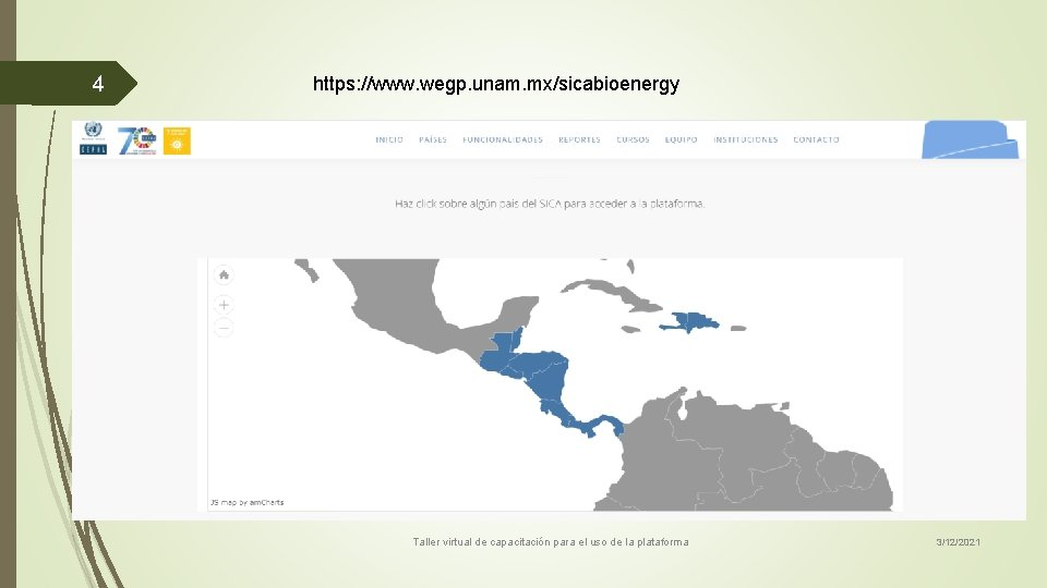 4 https: //www. wegp. unam. mx/sicabioenergy Taller virtual de capacitación para el uso de