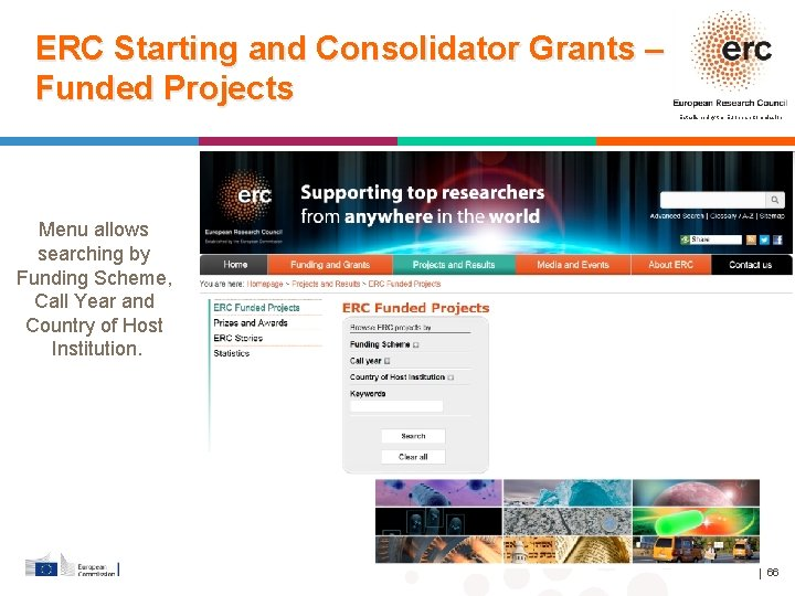 ERC Starting and Consolidator Grants – Funded Projects Established by the European Commission Menu