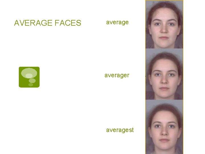 AVERAGE FACES averager averagest