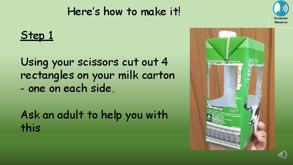 Here's how to make it! Step 1 Using your scissors cut out 4 rectangles
