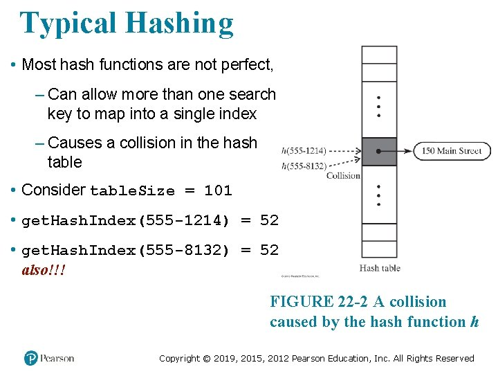 Typical Hashing • Most hash functions are not perfect, – Can allow more than