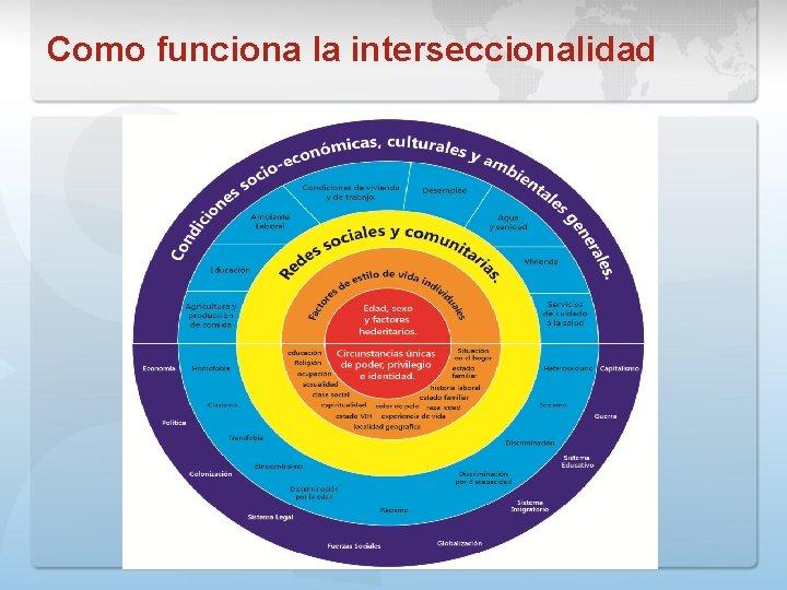 Como funciona la interseccionalidad