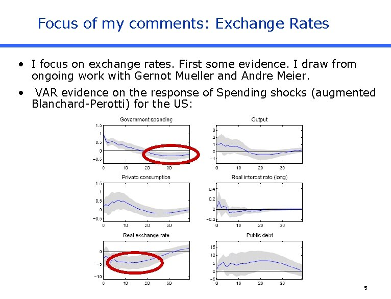 Focus of my comments: Exchange Rates • I focus on exchange rates. First some