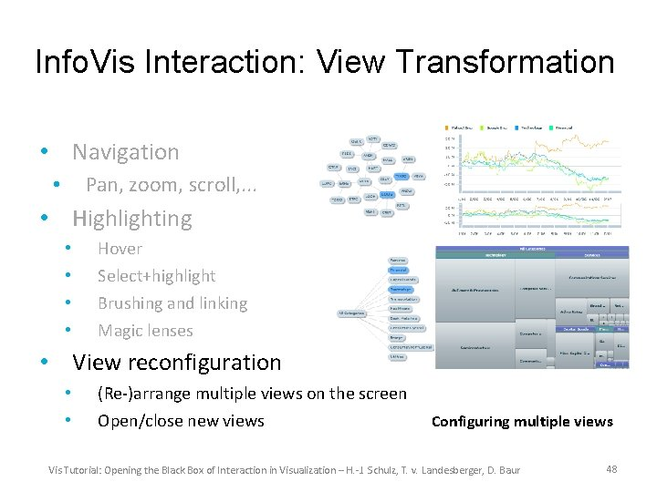 Info. Vis Interaction: View Transformation • Navigation Pan, zoom, scroll, . . . •