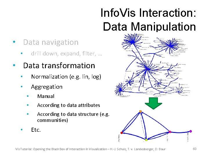 Info. Vis Interaction: Data Manipulation • Data navigation drill down, expand, filter, … •