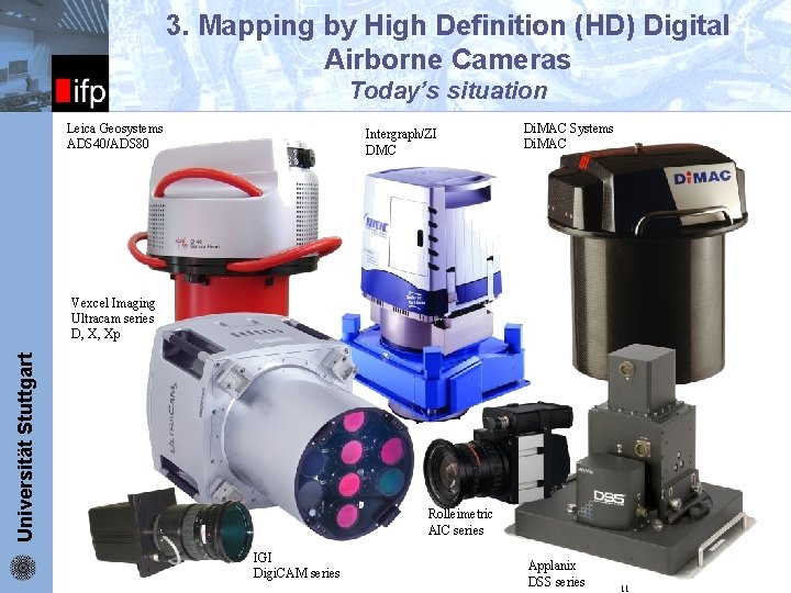ifp 3. Mapping by High Definition (HD) Digital Airborne Cameras Today's situation Leica Geosystems