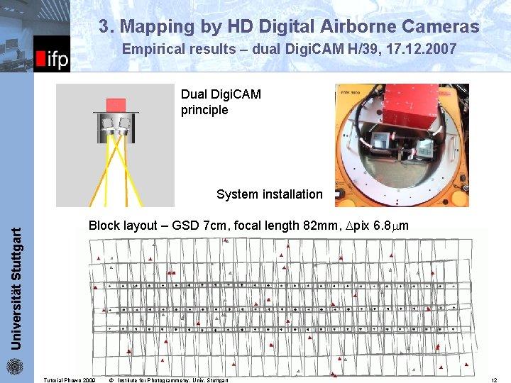 3. Mapping by HD Digital Airborne Cameras Empirical results – dual Digi. CAM H/39,