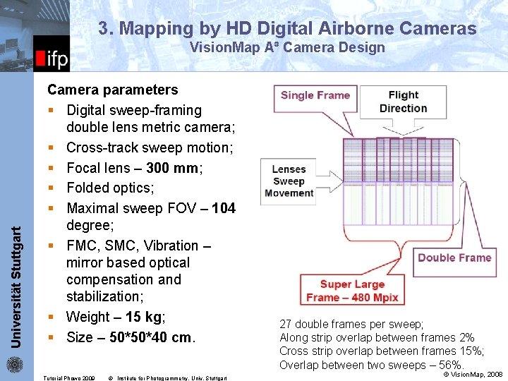 3. Mapping by HD Digital Airborne Cameras Universität Stuttgart ifp Vision. Map A³ Camera