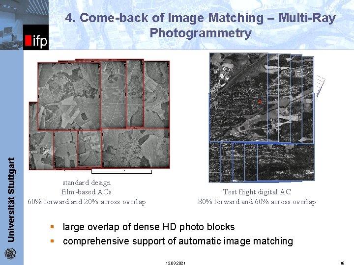 Universität Stuttgart ifp 4. Come-back of Image Matching – Multi-Ray Photogrammetry standard design film-based