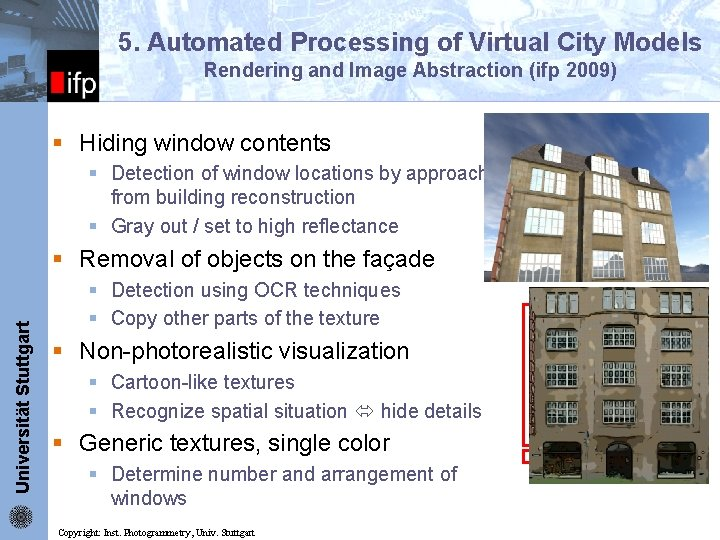 5. Automated Processing of Virtual City Models ifp Rendering and Image Abstraction (ifp 2009)