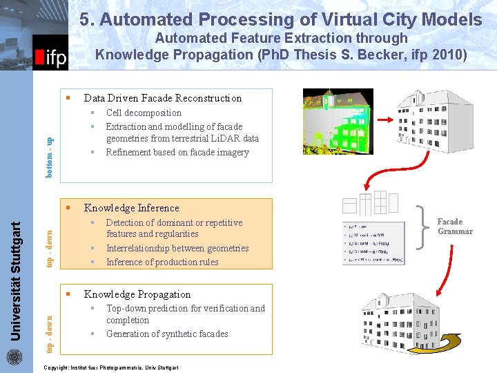5. Automated Processing of Virtual City Models Automated Feature Extraction through Knowledge Propagation (Ph.