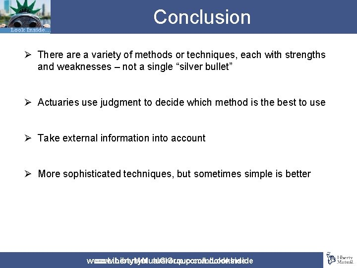 Conclusion Ø There a variety of methods or techniques, each with strengths and weaknesses