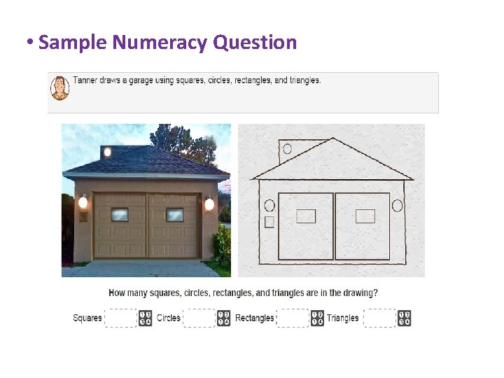 • Sample Numeracy Question