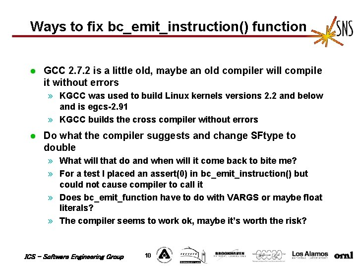Ways to fix bc_emit_instruction() function l GCC 2. 7. 2 is a little old,