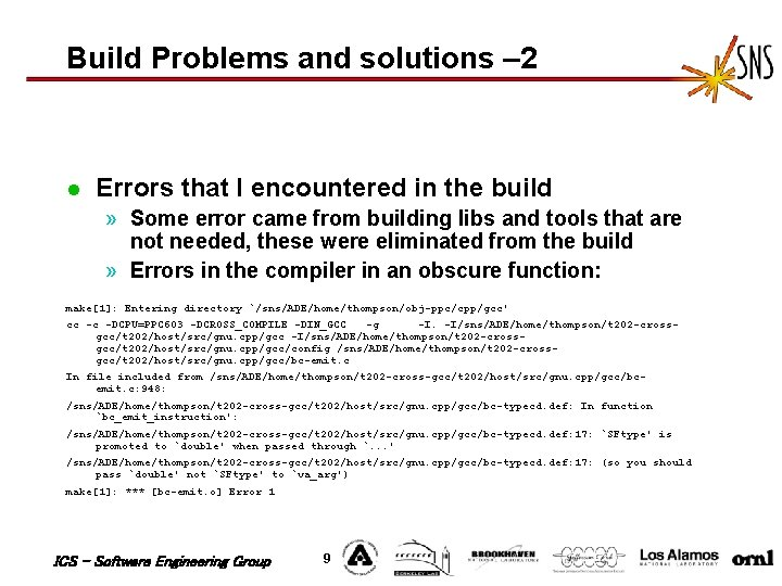 Build Problems and solutions – 2 l Errors that I encountered in the build