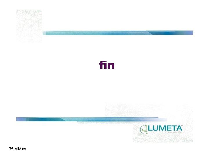 fin 75 slides