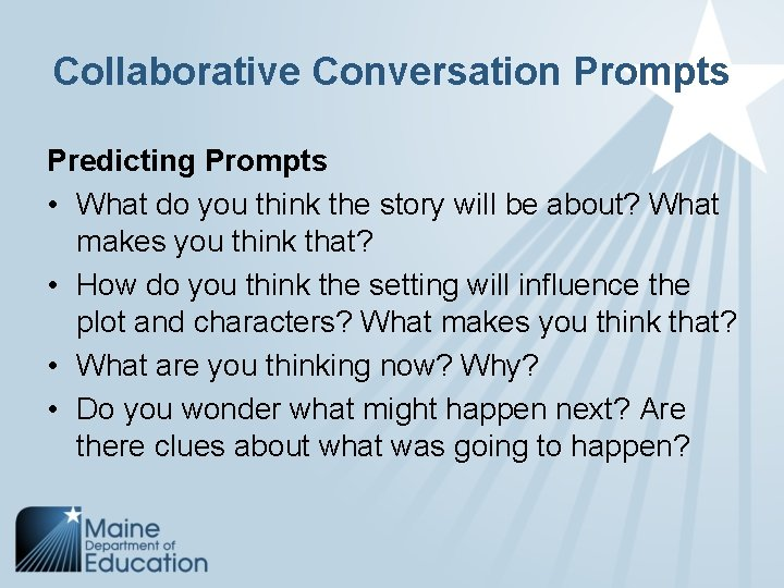 Collaborative Conversation Prompts Predicting Prompts • What do you think the story will be