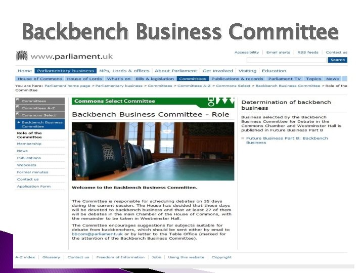 Backbench Business Committee