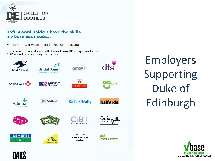 Employers Supporting Duke of Edinburgh