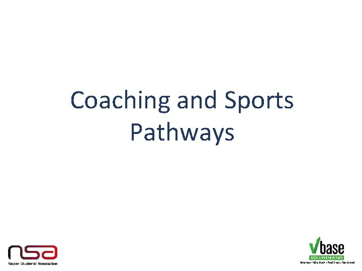 Coaching and Sports Pathways