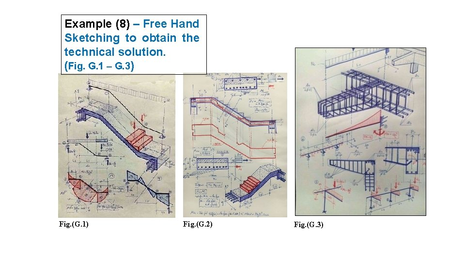 Example (8) – Free Hand Sketching to obtain the technical solution. (Fig. G. 1