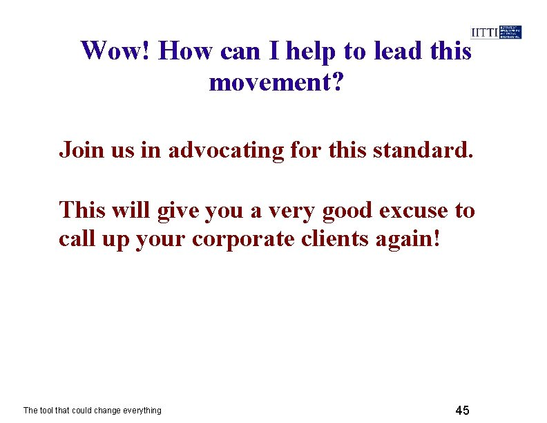 Wow! How can I help to lead this movement? Join us in advocating for