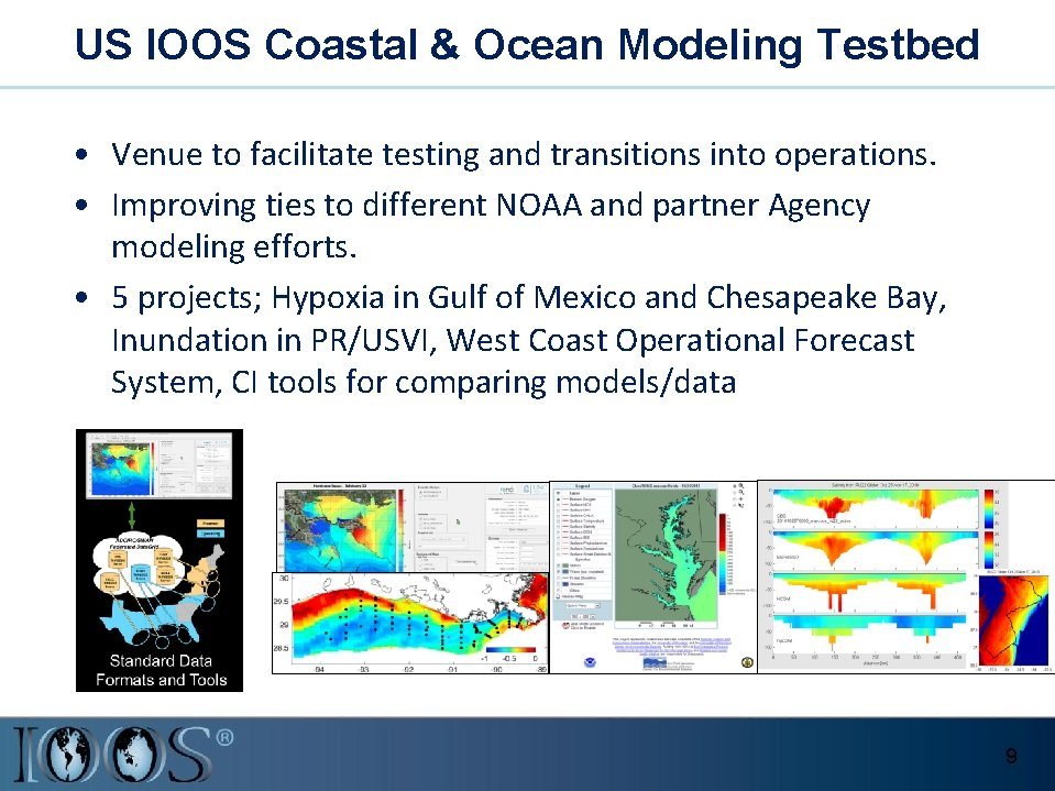 US IOOS Coastal & Ocean Modeling Testbed • Venue to facilitate testing and transitions