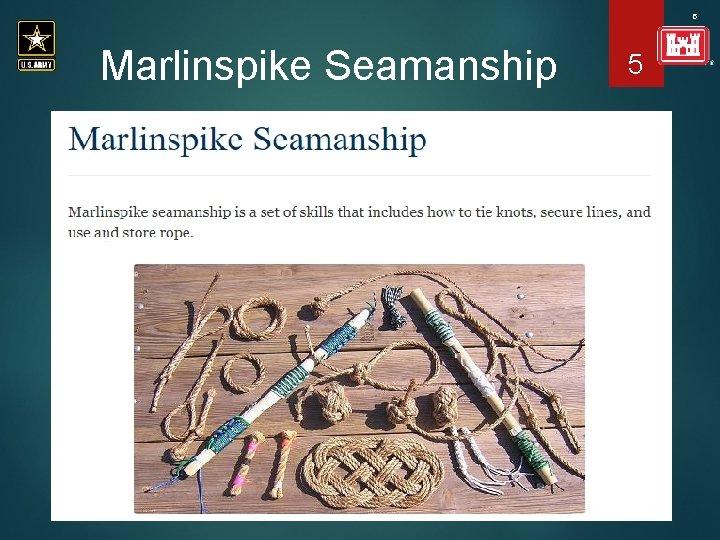 5 Marlinspike Seamanship 5