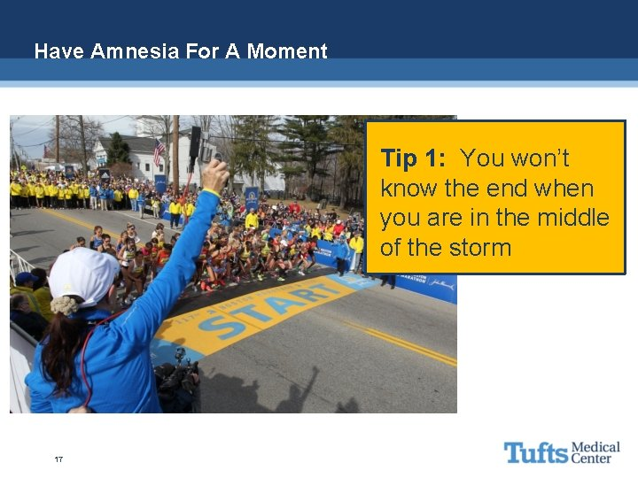 Have Amnesia For A Moment Tip 1: You won't know the end when you