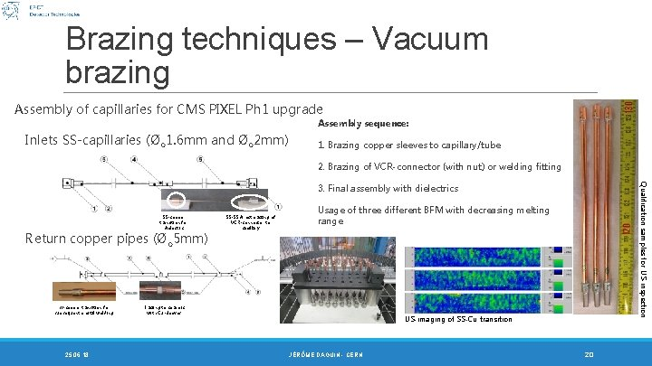 Brazing techniques – Vacuum brazing Assembly of capillaries for CMS PIXEL Ph 1 upgrade