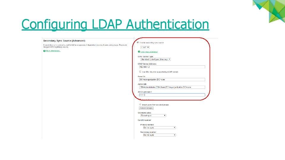 Configuring LDAP Authentication