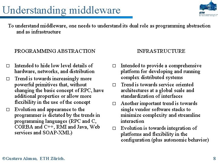 Understanding middleware To understand middleware, one needs to understand its dual role as programming