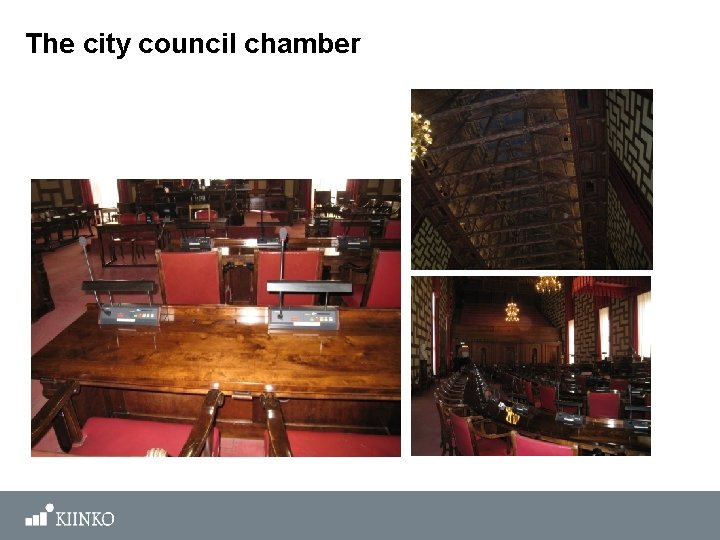 The city council chamber