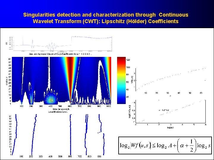 Singularities detection and characterization through Continuous Wavelet Transform (CWT): Lipschitz (Hölder) Coefficients