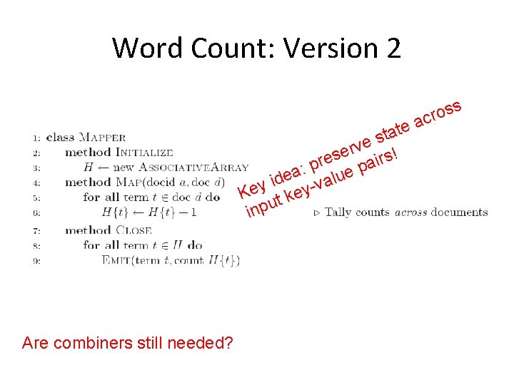 Word Count: Version 2 te a t s e v er irs! s e
