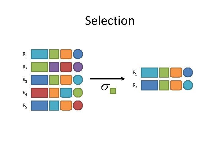 Selection R 1 R 2 R 3 R 4 R 5 R 1 R