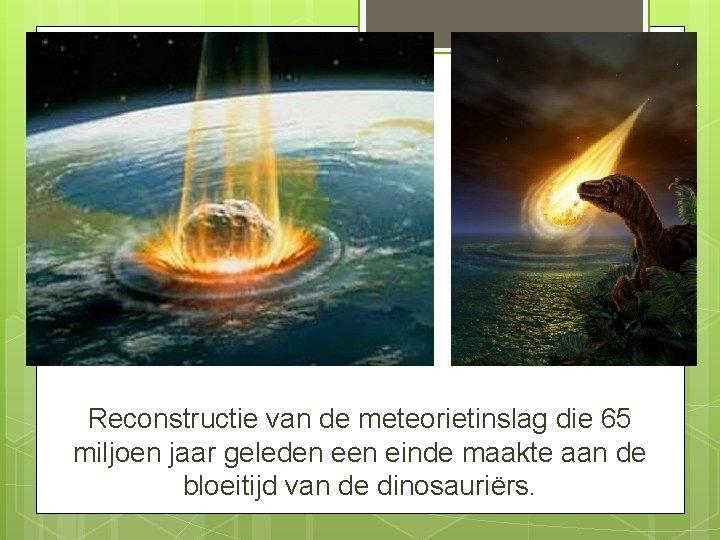 Reconstructie van de meteorietinslag die 65 miljoen jaar geleden einde maakte aan de bloeitijd