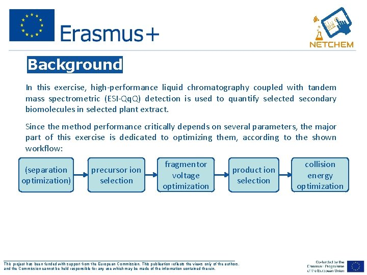 Background In this exercise, high-performance liquid chromatography coupled with tandem mass spectrometric (ESI-Qq. Q)