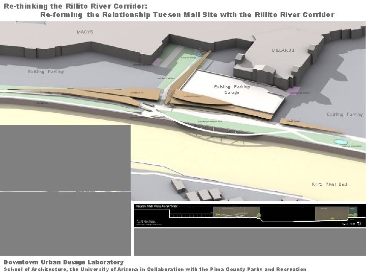 Re-thinking the Rillito River Corridor: Re-forming the Relationship Tucson Mall Site with the Rillito