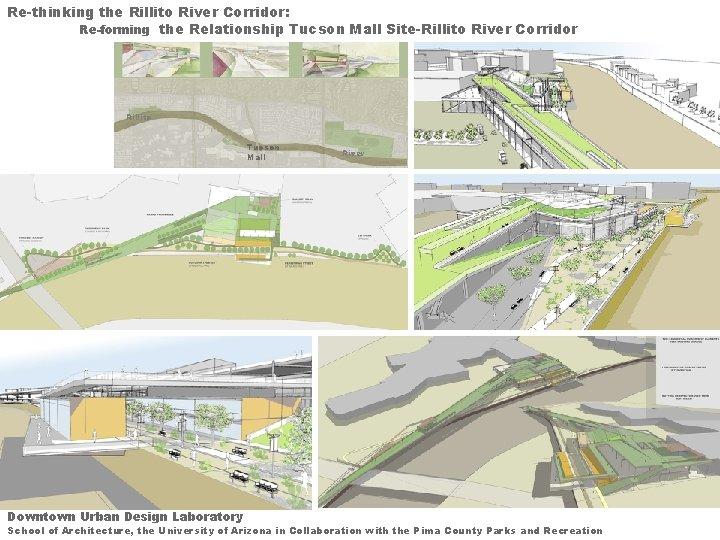 Re-thinking the Rillito River Corridor: Re-forming the Relationship Tucson Mall Site-Rillito River Corridor Rillito