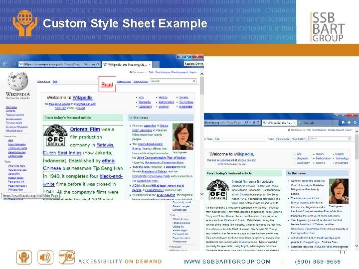 Custom Style Sheet Example 11